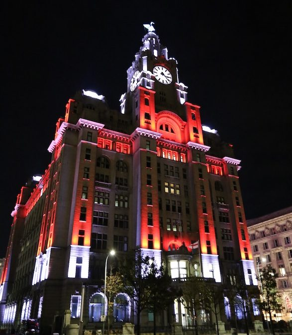 Royal Liver Building lights up with the magic of Christmas