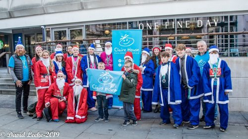 Claire House Children's Hospice thanks Dashing Santas for £11,000 boost