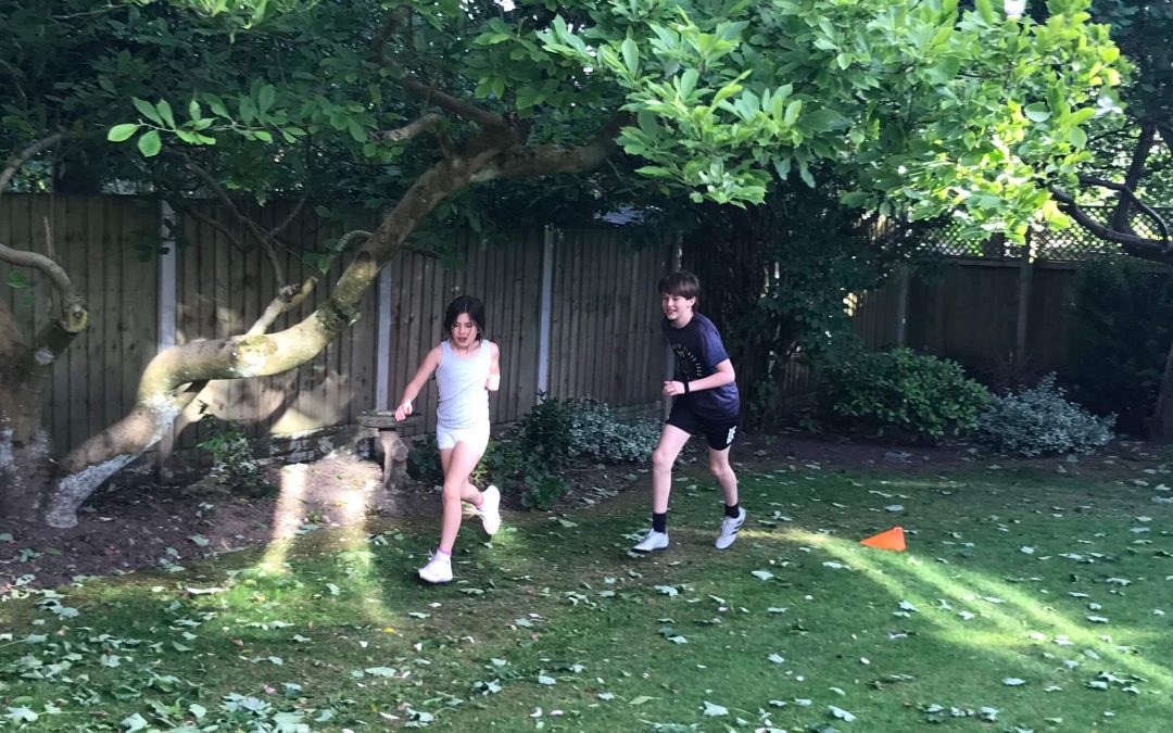 Young brother and sister run daily for 26 days and raise £1,177 for Marie Curie